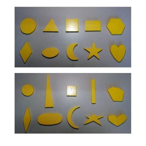 Figure 1. Wooden shapes used in study